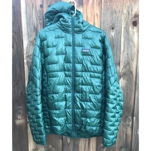 M's Patagonia Micro Puff Hooded Jacket Size Large